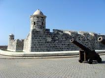 Um dos fortes de Havana Fotos de Stock Royalty Free
