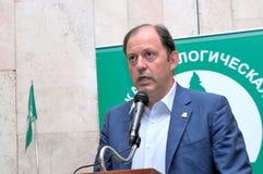 Um dos líderes do Partido Verde do russo Foto de Stock