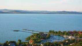 Um dos lagos os maiores do ` s de Europa - Balaton Foto de Stock Royalty Free