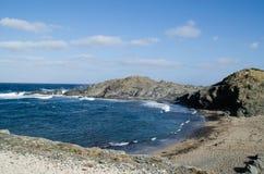 Um dos lugares os mais conhecidos em Menorca na costa com um farol Imagens de Stock Royalty Free