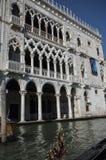 Um dos palácios os mais famosos de Veneza, d'oro do Ca Fotografia de Stock Royalty Free