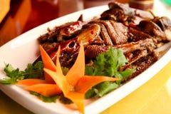 Um dos pratos os mais famosos na culinária chinesa é o pato de Peking fotos de stock royalty free