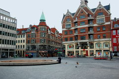 Um dos quadrados, Copenhaga, Dinamarca Fotografia de Stock