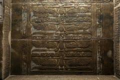 Um dos relevos incríveis no teto do templo do Isis em Philae (ilha de Agilqiyya) em Egito Fotografia de Stock Royalty Free