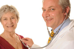 Um doutor e um paciente Imagem de Stock Royalty Free