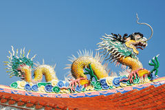 Um dragão chinês do mar da legenda Fotos de Stock Royalty Free