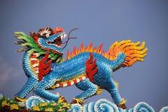 Um Dragon Horse cerâmico multicolorido imagem de stock royalty free