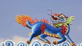 Um Dragon Horse multicolorido imagem de stock royalty free