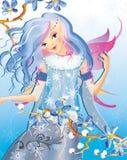 Um duende azul Imagens de Stock