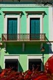 Um edifício colorido nas Caraíbas Foto de Stock