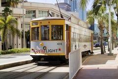 Um elétrico amarelo em Tampa Florida EUA foto de stock royalty free
