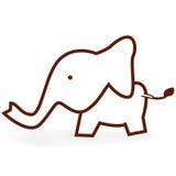 Um elefante pequeno Fotografia de Stock Royalty Free