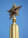 Um elemento do edifício a estrela grande em uma abóbada Foto de Stock Royalty Free