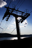 Um elevador de esqui Fotografia de Stock Royalty Free