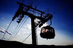 Um elevador de esqui Imagens de Stock Royalty Free