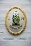 Um emblema histórico da cervejaria do rei de Greene Imagem de Stock