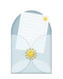 Um envelope azul ilustração stock
