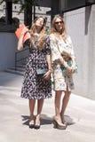 Um equipamento do verão do ` s da mulher durante a semana de moda de New York Foto de Stock Royalty Free