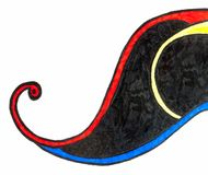 Um esboço colorido de uma forma de onda com swirly linhas ilustração royalty free