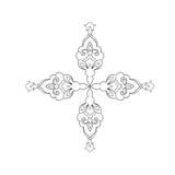 Um esboço de um teste padrão simétrico bonito em um fundo branco Imagem de Stock Royalty Free