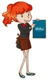 Um esboço simples de uma empregada de mesa fêmea Imagens de Stock Royalty Free