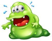 Um escape do monstro do greenslime Fotos de Stock Royalty Free