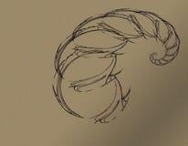Um escorpião abstrato e preto ilustração royalty free
