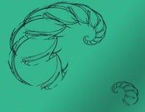 Um escorpião abstrato e preto ilustração stock