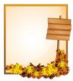 Um espaço vazio e o quadro indicador de madeira vazio Fotografia de Stock Royalty Free