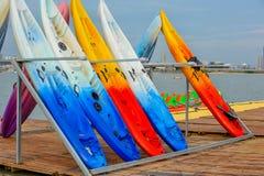 Um esporte da forma--Canoeing Fotografia de Stock