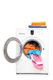Um estúdio disparou de uma máquina de lavar imagens de stock