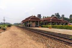 Um estação de caminhos-de-ferro Imagem de Stock