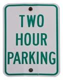 Um estacionamento de duas horas fotos de stock royalty free
