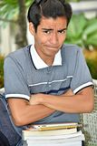Um estudante teimoso do menino fotos de stock royalty free