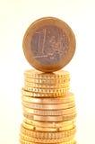 Um euro Foto de Stock