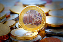 Um euro Imagens de Stock