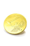 um euro isolado no branco Imagens de Stock Royalty Free