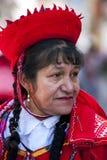 Um executor na parada de Mat Day em Cusco no Peru Imagens de Stock Royalty Free
