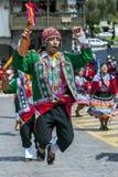 Um executor na parada do primeiro de maio em Cusco no Peru Fotos de Stock Royalty Free