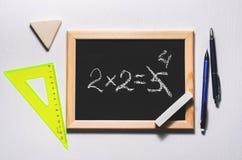 Um exemplo matemático Imagem de Stock