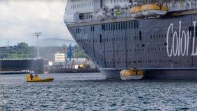 Um exercício do salvamento do mar em Kiel Fjord, KIel, Alemanha Imagens de Stock Royalty Free