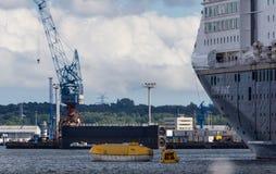 Um exercício do salvamento do mar em Kiel Fjord, KIel, Alemanha Imagens de Stock