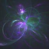 Um Explination sutil da espiral de Fibbonocci da vida gerada por frequências complementares da vida | Arte do Fractal Fotos de Stock