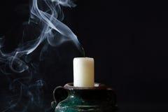 Um extinguiu a vela Fotografia de Stock Royalty Free