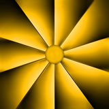 Um fã amarelo na obscuridade Imagem de Stock Royalty Free