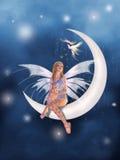 Um fairy na lua Foto de Stock