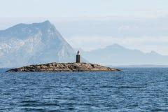 Um farol em Noruega do norte Fotografia de Stock