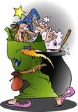 Um feiticeiro na ação Foto de Stock Royalty Free