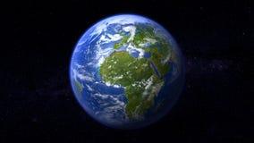 Um feliz todo o verde nenhuma terra do deserto Imagem de Stock Royalty Free