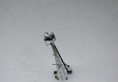 Um fim acima de Lovell Telescope no banco de Jodrell Imagens de Stock